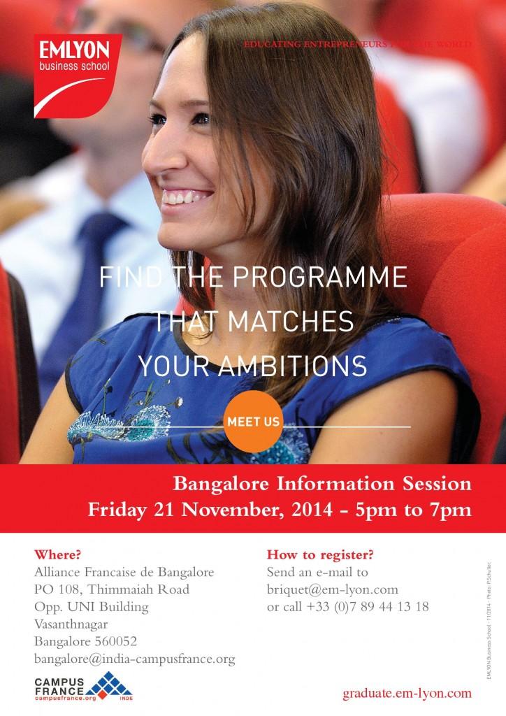 Invitation Bangalore Information Session 2014