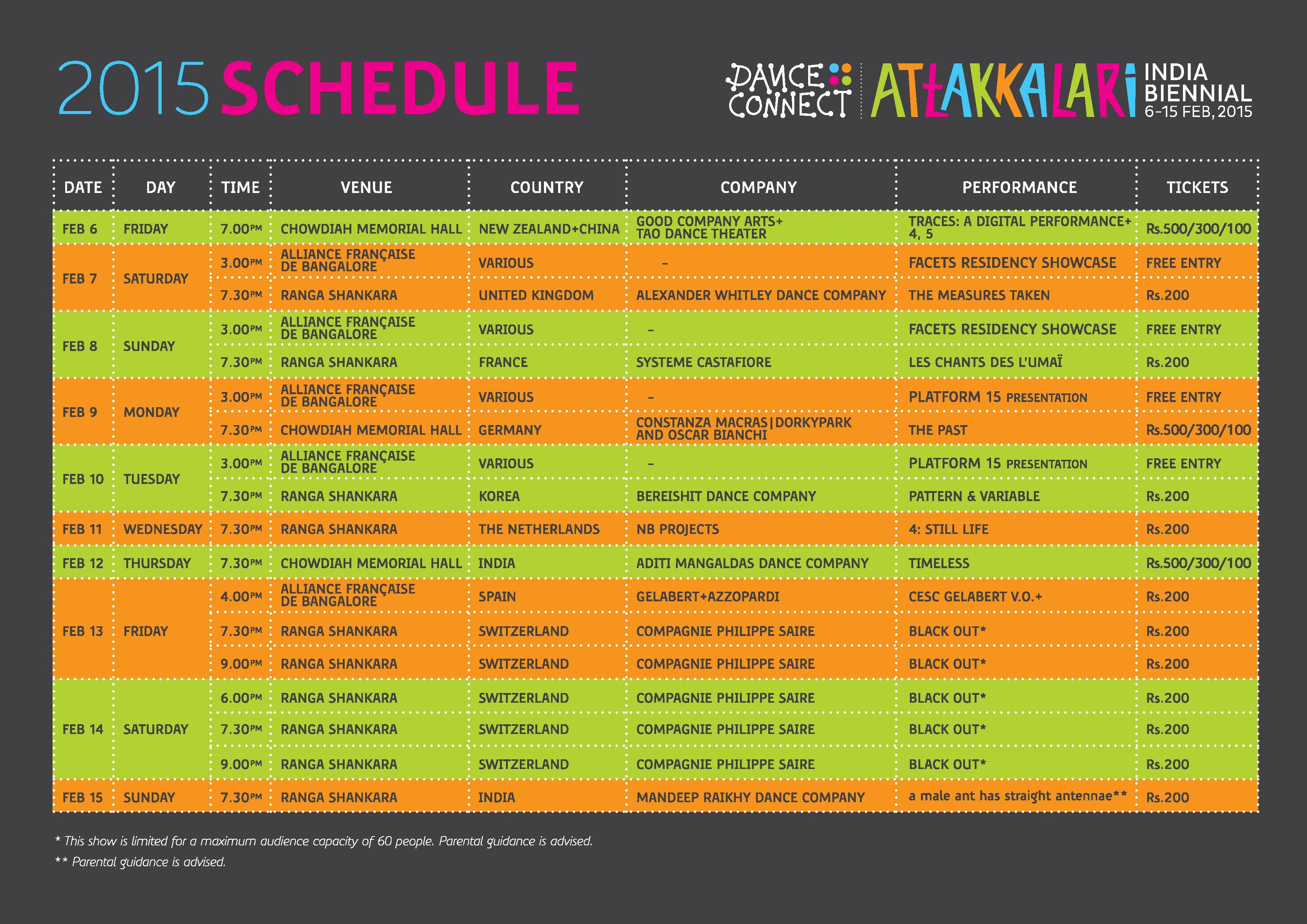 Schedule Flier 2