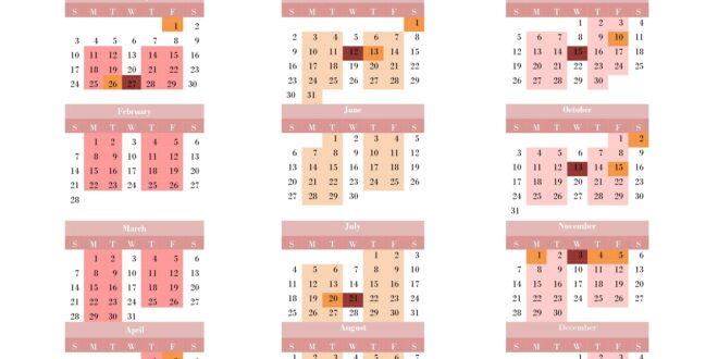 Course Calendar 2021