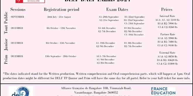 DELF/DALF calendar 2021