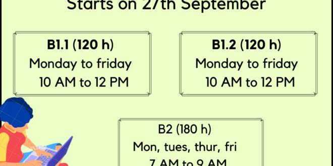 Weekday September 2021