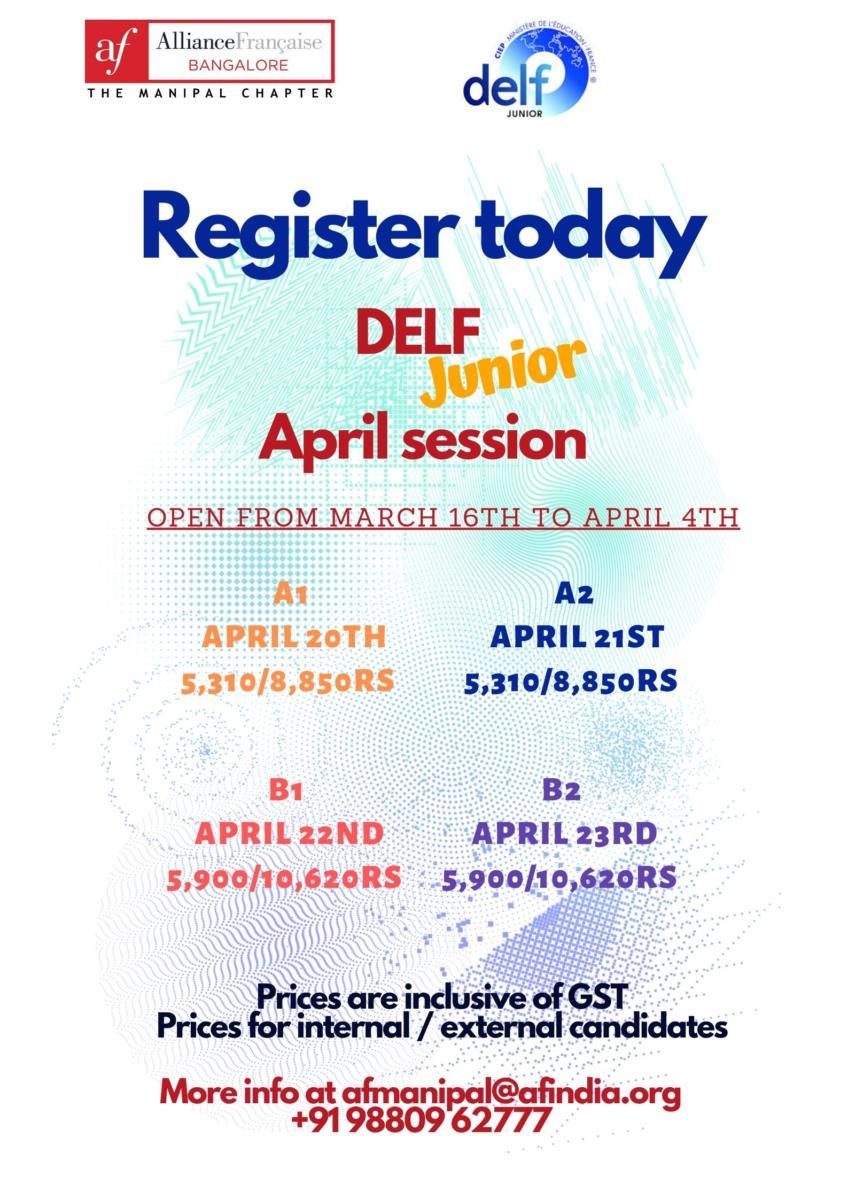 DELF Junior April 2020 Session
