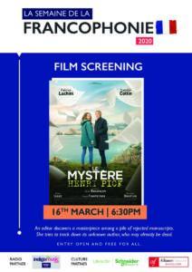 16th March | French Film Screening - Le Mystère Henri Pick