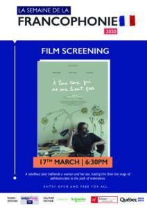 17th March | French Film Screening - À tous ceux qui ne me lisent pas